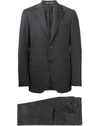 Canali - Gray Two Piece Suit for Men - Lyst