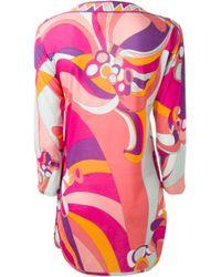 Emilio Pucci - Multicolor Flower And Geometric Print Tunic - Lyst