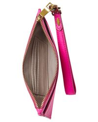 Fossil | Pink Item Leather Medium Wristlet | Lyst