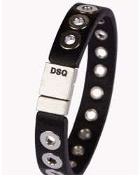 DSquared² - Black Nickel Hole Armlet for Men - Lyst