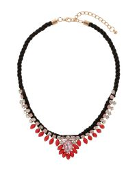 Mikey | Pink Hanging Crystal Fillagary Rope Necklace | Lyst