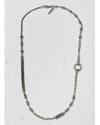 John Varvatos | Metallic Multi Mix Silver Necklace for Men | Lyst