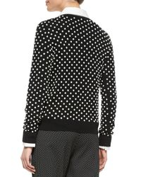 Michael Kors Black Pearlescent Hand-embroidered Sweater