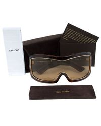 Tom Ford - Brown Ft0305 Olga Oversized Shield Sunglasses - Lyst