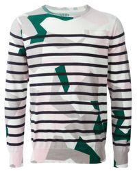 Sacai | Multicolor Geometric Striped Sweater for Men | Lyst