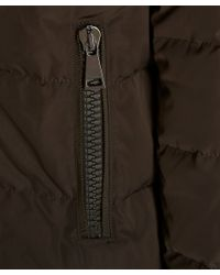 Moncler - Natural Khaki Gerboise Padded High-collar Down Coat - Lyst