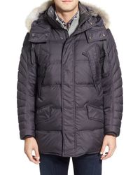 Marc New York | Brown By Andrew Marc 'stowaway' Hooded Parka With Genuine Coyote Fur Trim for Men | Lyst