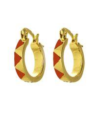 House of Harlow 1960 | Metallic Enamel Huggie Earrings | Lyst