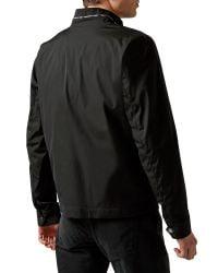 Aquascutum - Black Argill Full Zip Harrington Jacket for Men - Lyst