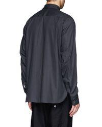 Ann Demeulemeester - Black Sunset Print Cotton Shirt for Men - Lyst