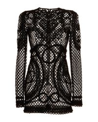 Dolce & Gabbana | Black Key-Print Chiffon Dress | Lyst
