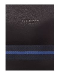 Ted Baker | Black Striped Flight Bag for Men | Lyst