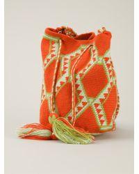 Muzungu Sisters - Orange Wayuu Mochila Mini Shoulder Bag - Lyst