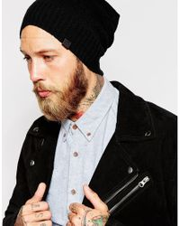 Esprit - Black Oversized Beanie for Men - Lyst