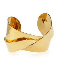 Devon Leigh - Metallic 18k Gold-plated Twist Cuff - Lyst