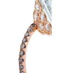 Lito | Metallic 18K Rose Gold Ring With Aquamarine | Lyst