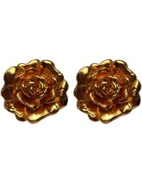 Alex Monroe | Metallic Gold-plated Rose Damasca Stud Earrings | Lyst
