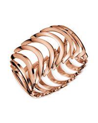 Calvin Klein | Metallic Rose Gold Pvd Curved Link Bracelet | Lyst