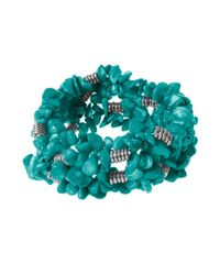 Kenneth Cole | Blue Turquoise Chip Stretch Bracelet | Lyst