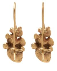 Ruth Tomlinson - Metallic Gold Raw Diamond Cluster Drop Earrings - Lyst