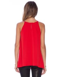 MILLY - Red Pleated Tank - Lyst