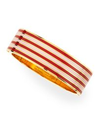 kate spade new york | Black Striped No Strings Attached Bangle Maraschino Redpink | Lyst