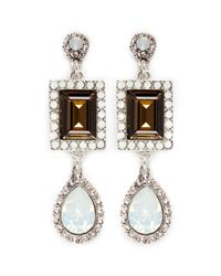 Philippe Audibert | Metallic 'elea' Crystal Opal Drop Earrings | Lyst
