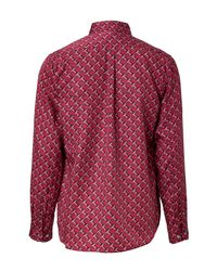 2d201c2a625de1 Marc By Marc Jacobs Cotton-silk Shirt In Cabernet Red in Red for Men ...