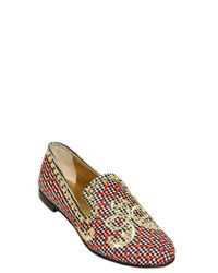 Giuseppe Zanotti - Multicolor 10Mm Embroidered Wool Loafers for Men - Lyst