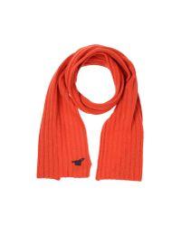 Henry Cotton's - Orange Oblong Scarf - Lyst
