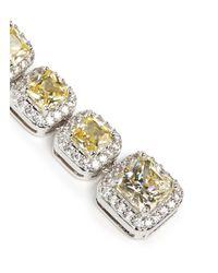 CZ by Kenneth Jay Lane Yellow Princess Cut Cubic Zirconia Drop Earrings