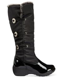 Khombu - Black Abigail Cold Weather Wedge Boots - Lyst