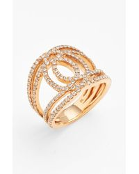 Bony Levy | Pink 'double Interlock' Diamond Cocktail Ring | Lyst
