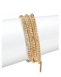 Saks Fifth Avenue - Metallic Beaded Bracelet Set - Lyst