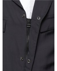 Lanvin - Blue Double-breasted Trench Coat for Men - Lyst