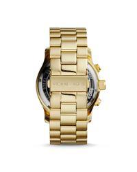 Michael Kors - Metallic Runway Flash Lens Gold-tone Watch - Lyst