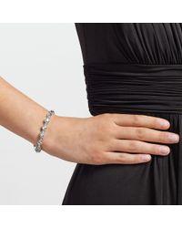 John Lewis - Metallic Glass Crystal Tennis Bracelet - Lyst