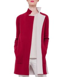 Akris - Red Double-face Reversible Cashmere Coat - Lyst