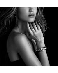 David Yurman | Metallic Metro Cuff With Diamonds And Gold | Lyst