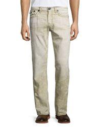 True Religion | Natural Ricky Recycled Slim Denim Jeans for Men | Lyst