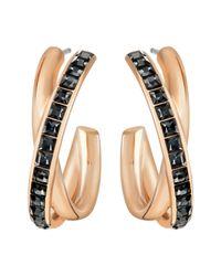Swarovski | Pink Dynamic Hoop Pierced Earrings | Lyst