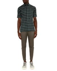 Lanvin - Green Cotton Biker Trousers for Men - Lyst