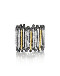 Coomi   Metallic Spring Tricolor Gold & Silver Band Ring   Lyst