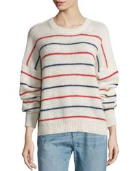 Étoile Isabel Marant - Natural Gatland Striped Alpaca-blend Sweater - Lyst