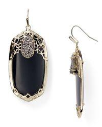Kendra Scott - Black Deva Earrings - Lyst