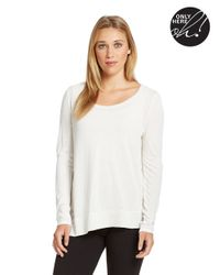 424 Fifth | White Ribbed Trimmed Top | Lyst