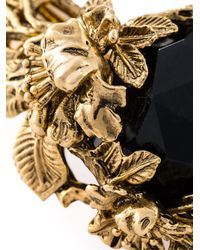 Roberto Cavalli | Black Floral Torque Necklace | Lyst