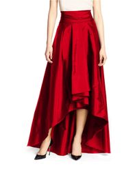 Adrianna Papell - Red Hi-lo Ballroom Skirt - Lyst