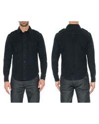 Joe's Jeans - Black Single Pocket Military Shirt for Men - Lyst