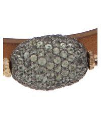 Federica Rettore - Brown Wrap Bracelet - Lyst
